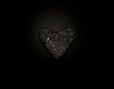 Background for Valentines day with silvery heart