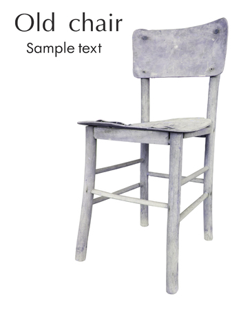 jumble: An interesting old chair to the jumble, on a white background Stock Photo
