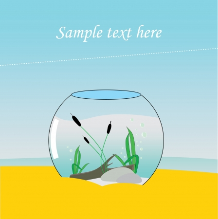 Aquarium at Sea, in sand Stock Vector - 15773688