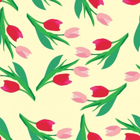 tulips - seamless patten