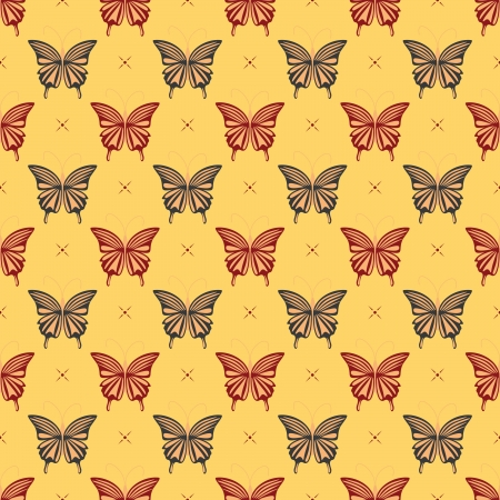 butterfly- seamless pattern Vector