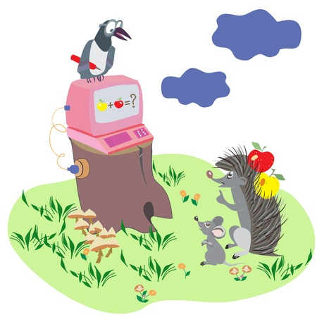 Cartoon illustration with animals Vector