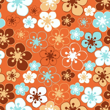 Floral - seamless pattern Stock Vector - 15773685