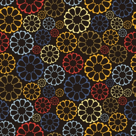 Decorative flowers - seamless pattern