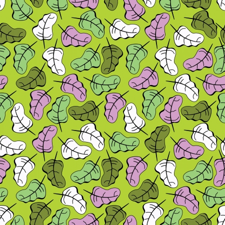 contrasty: Leafs - seamless pattern