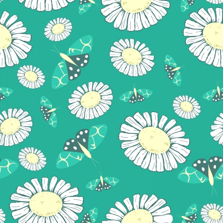 Dandelion and butterfly - seamless pattern Stock Vector - 15773970