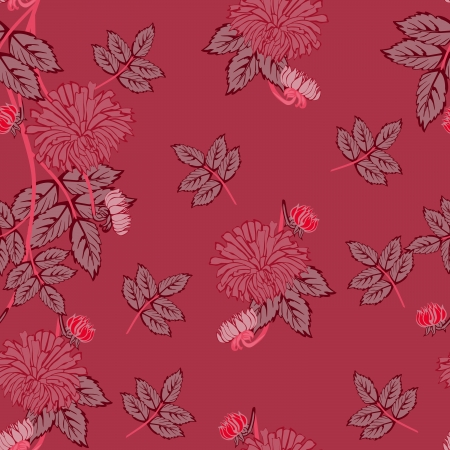 contrasty: Flowers - seamless pattern