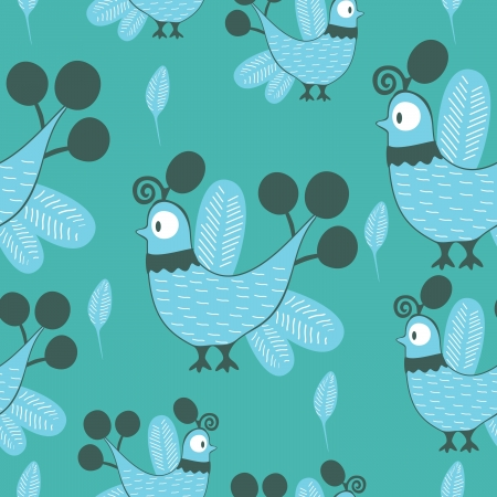 lowbrow: Uccelli - seamless pattern