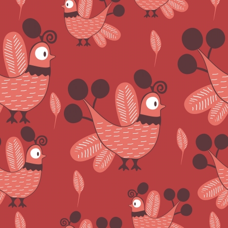 Birds - seamless pattern Vector