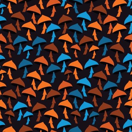 Mushrooms - seamless pattern