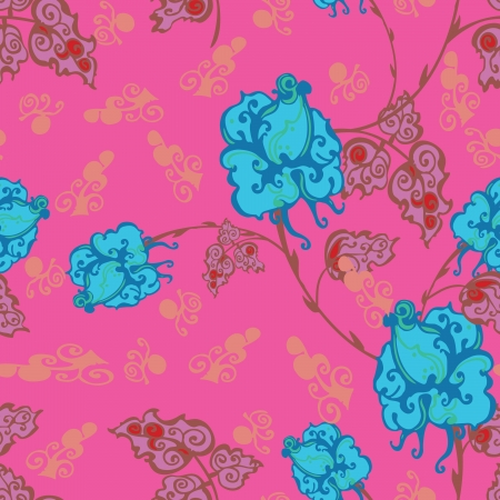 Floral - seamless pattern Stock Vector - 15773554