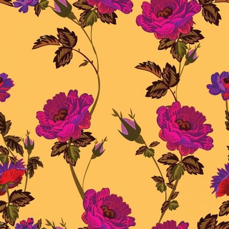 tessile: Floral pattern senza soluzione di continuit�