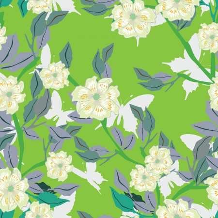 contrasty: Floral - seamless pattern