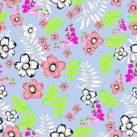 Floral - seamless pattern Vector
