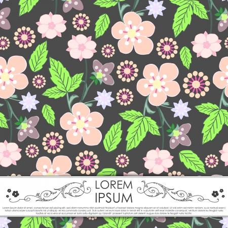 Floral card Vector
