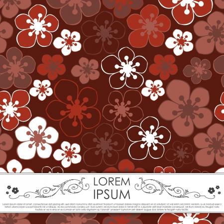 textile image: Floral card