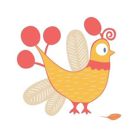 lowbrow: Cartoon di pollo Vettoriali