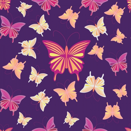 Butterfly - seamless pattern Stock Vector - 16263385
