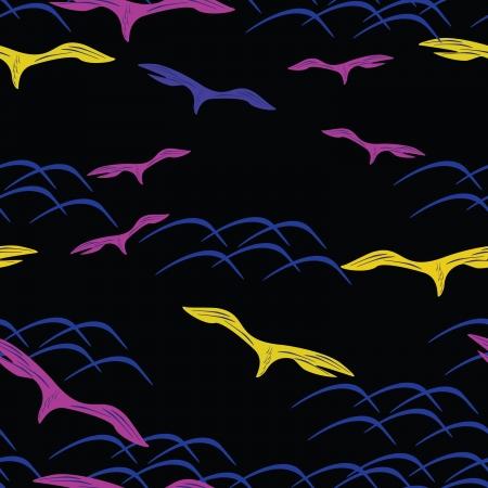 seamless bird pattern Stock Vector - 16263384