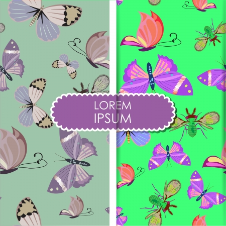 butterfly - seamless pattern Vector