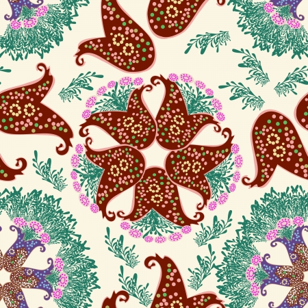 Flower- seamless pattern, element for design, vector illustration  Vector