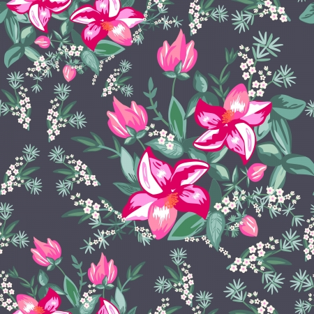 fabric design: Floral - seamless pattern