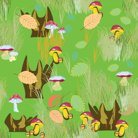 Mushrooms - seamless pattern Vector