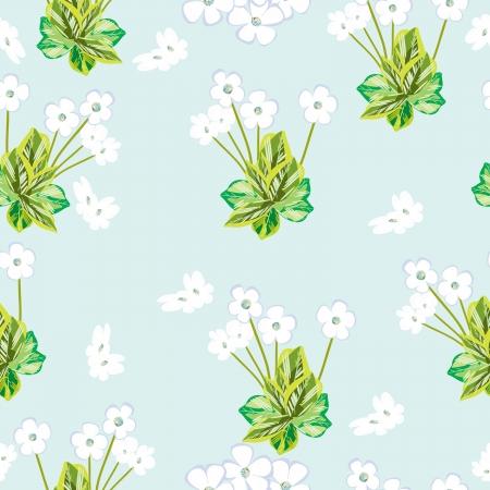 contrasty: Flower- seamless pattern,  vector illustration