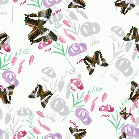 Butterfly - seamless pattern Illustration