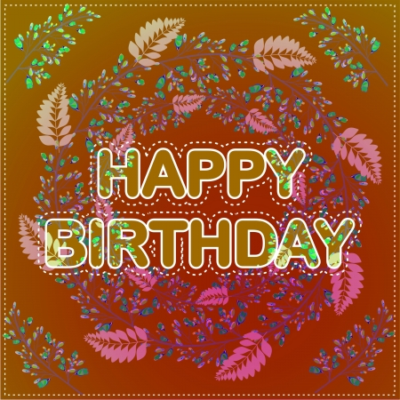 Happy birthday card Stock Vector - 21706629