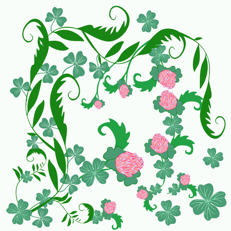 Happy St Patrick s Day  Floral background Vector