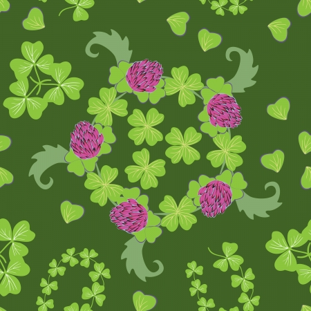 Happy St Patrick s Day  Seamless pattern Vector