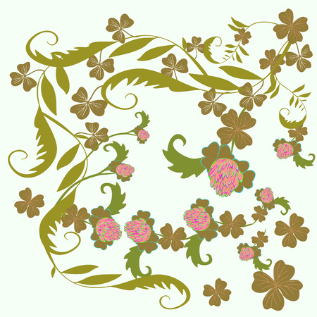 Happy St Patrick s Day  Floral background Illustration