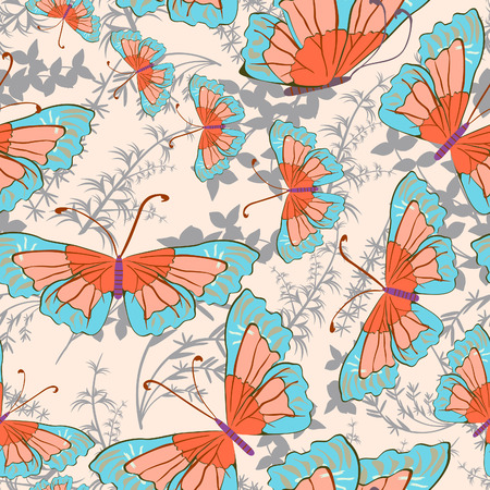 Butterfly - seamless pattern Illustration