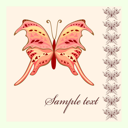 Butterfly  art isolated