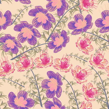 Flowers- seamless pattern Illustration