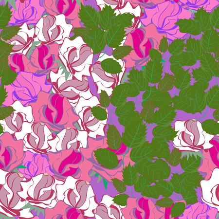 roses-seamless pattern