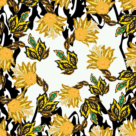 Flowers - seamless pattern