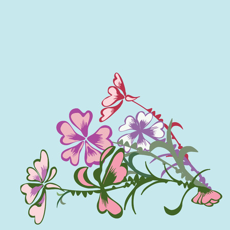 Floral card,illustration