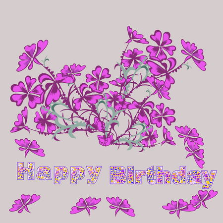 Happy birthday card,illustration,