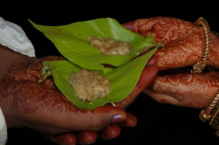 Hands combined in a traditional celebration festival