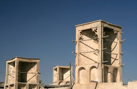 Wind tower in fishing village, Queshm island, Iran Stock Photo - 680385