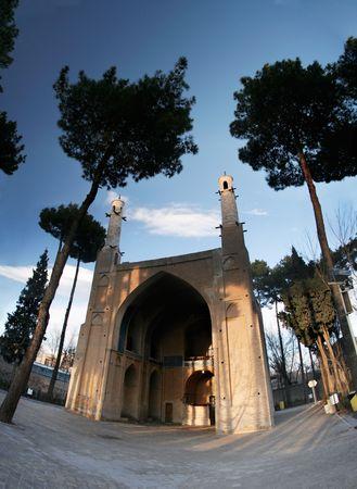 Swinging minarets in Esfahan, Iran photo