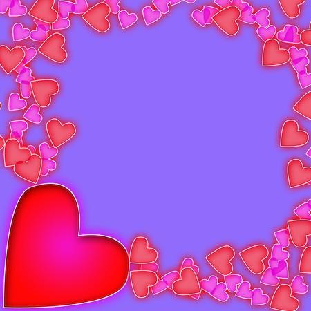 hearts background1 photo