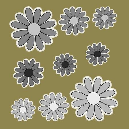 romantics: black white flower