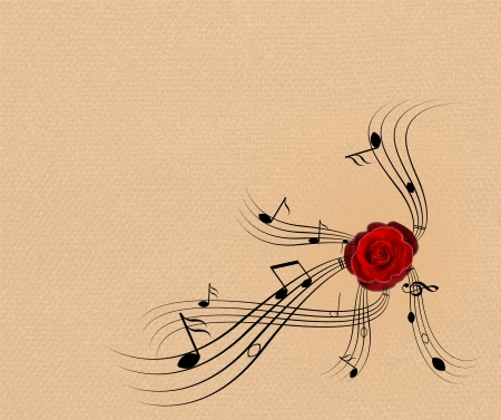 treble clef: this is background made from note and minim Stock Photo