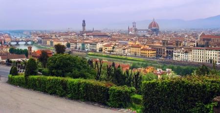 cattedrale: Panorama of Florence seen from Michelangelo square  Arno River, Duomo Santa Croce, Cattedrale di Santa Maria del Fiore, National Library