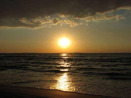 azov sea: Sunset, Azov sea coast, nearest Kerch city, Crimea