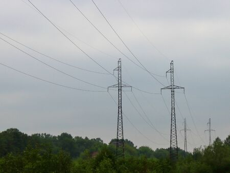 Power transmissions go on a cloudy day