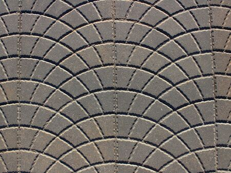 paving tiles arched texture background Stockfoto - 129413382